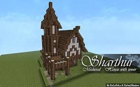 house with tower medieval house with tower sharthur minecraft project