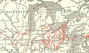 map of the underground in myths about the underground railroad american history
