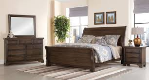 Bassett Bedroom Furniture Whiskey Barrel Sleigh Bedroom Set Dark Roast Vaughan Bassett