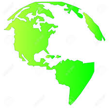 Map Of North And South America by Landmass Of North And South America In Gradient Green Vector