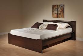 Brown Wood Bed Frame Wood Bed Frames Home Decoration Ideas Pinterest Light
