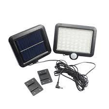 outdoor led motion lights kaigelin 56led solar powered led wall light pir motion sensor
