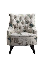 sofa flower print artistical exotic floral print single seater wooden sofa chair