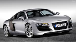 Audi R8 Front - 2006 audi r8 front side pose in silver wallpaper