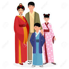 japanese family japanese and with in traditional