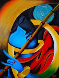 lord krishna harmony of life modern art by deepasampath86 on