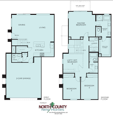 Townhome Floorplans by Brisas At Pacific Ridge New Townhomes In Oceanside