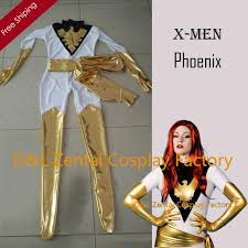 Phoenix Halloween Costume Dhl Amazing Men White U0026gold Jean Grey Phoenix Superhero
