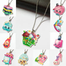 childrens necklaces new hot kawaii shopkins flatback resin pendant necklace for