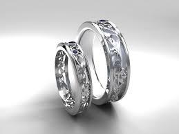 Gothic Wedding Rings by Wedding Band Set White Gold Sapphire Wedding Band Mens
