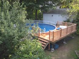 Above Ground Pool Landscaping Ideas Pools Enchanting Backyard Design Ideas With Above Ground Pools