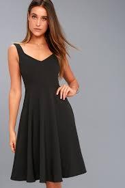 classic black dress midi dress skater dress