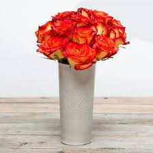 Vase With Roses Fortified Yellow Red Rose Bouquet The Bouqs Co