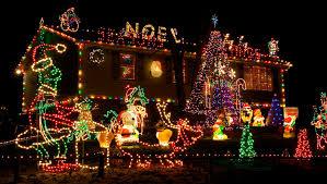 beautiful christmas lights on houses wallpaper