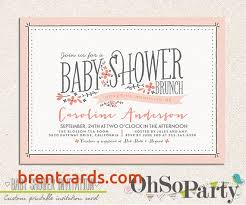 brunch invitation wording baby shower brunch invitation wording free card design ideas