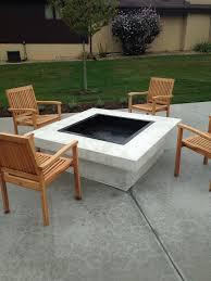 Concrete Firepits Chicago Concrete Custom Pit Furniture