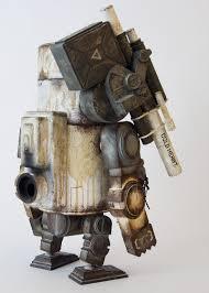 large martin wood world war robot figure robot