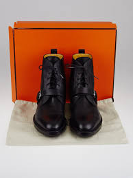 lace up motorcycle riding boots hermes black leather lace up ankle boots size 12 42 5 yoogi u0027s closet