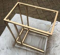 gold side table ikea create this gold marble side table with this easy ikea hack