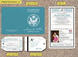 custom destination passport wedding invitations from winnipeg
