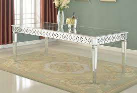 t1840 i furniture import export inc t1840 sophie silver mirrored dining room table