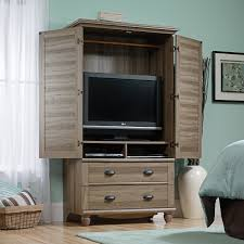harbor view armoire salt oak hayneedle