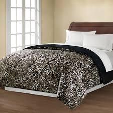 Walmart Mainstays Comforter Mainstays Reversible Comforter Collection Leopard Walmart Com