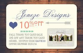 thank you cards jeneze designs