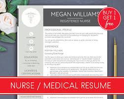 Resume For Nurses Template Nurse Resume Etsy