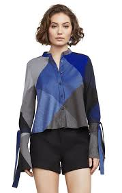 Blouse With Big Bow Women U0027s Tops Designer Tops Bcbg Com