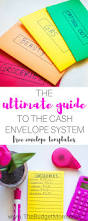 Template For Budgeting Money The Ultimate Guide To The Cash Envelope System The Budget Mom