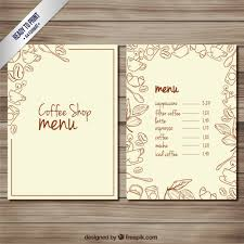 coffee shop menu template coffee shop menu vector premium