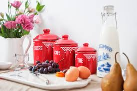 red kitchen canisters ceramic light up your kitchen with red