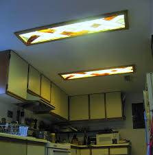 Fluorescent Kitchen Ceiling Lights Interior Attractive Fluorescent Flush Mount Kitchen Ceiling