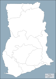 Map Of Ghana Ghana Free Map Free Blank Map Free Outline Map Free Base Map