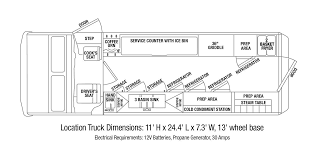 beautiful food truck floor plans plan 16 ft box c and design