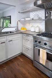Ann Sacks Gotham Weave Tile Backsplash Contemporary Kitchen - Basket weave tile backsplash