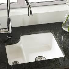 Ceramic Kitchen Sinks Uk Astracast Lincoln 1 5 Bowl Gloss White Ceramic Undermount Kitchen