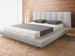 Modern Queen Size Bed Frame Light Grey Arnika Fabric Modern Queen Size Bed