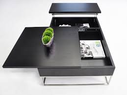 p209a modern coffee table with pull out tray and storage