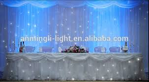 wedding backdrop led fireproof led cloth curtain with high quality for wedding