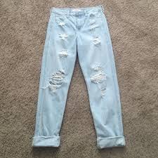 hollister light wash jeans hollister denim lightwash boyfriend jeans poshmark