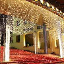 string window fairy light twinkling star curtain lignting wedding