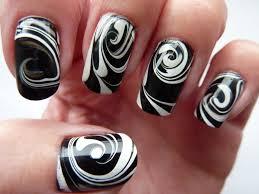 black u0026 white water marble swirl nail art facebook www fa u2026 flickr