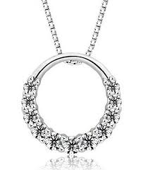 silver ring pendant necklace images Wholesale 925 sterling silver pendant necklace woman zirconia jpg