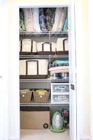 inexpensive linen closet organization