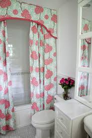 Feminine Shower Curtains Bathroom Makeover Plans Cornice Boards Cornice And Bathrooms