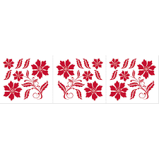 homeshop18 home decor home decor line red flower wall stickers wall decals homeshop18