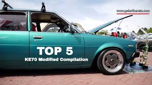 modified toyota corolla top 5 best compilation modified toyota corolla ke70 nov 2016