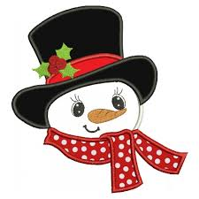 christmas applique snowman with big hat christmas applique machine embroidery digitized design pattern 700x700 jpg